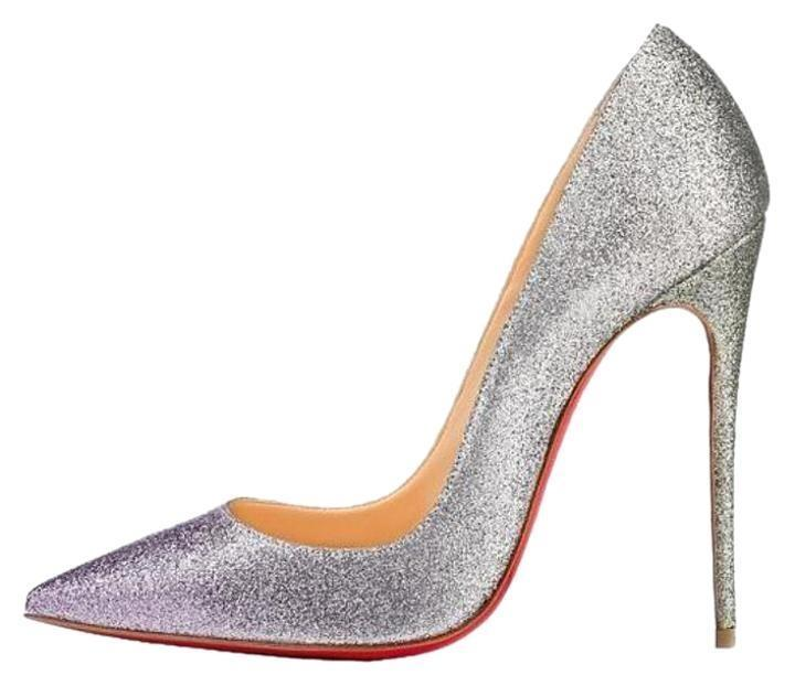 2348759a4a41 Christian Louboutin Silver So Kate 120 Degrade Degrade Degrade Mini Glitter  Drage Pumps Size US 10 ad8182