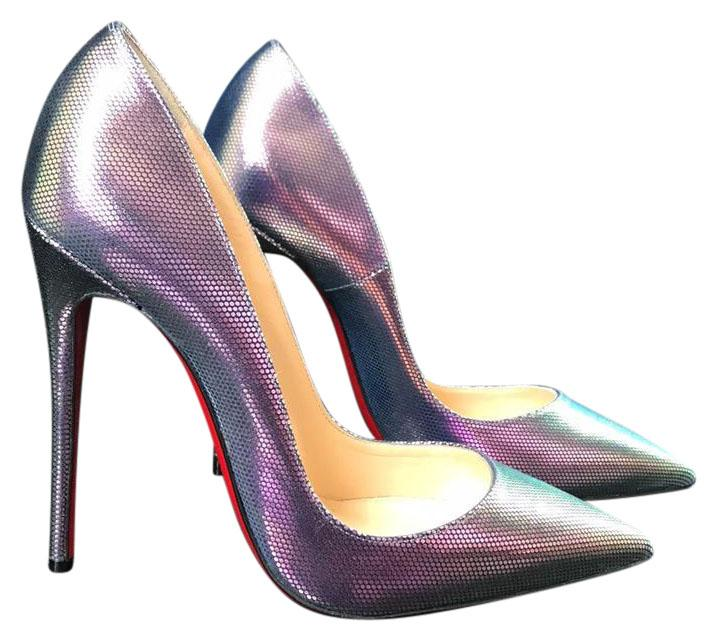 99ee7987f47 Man s Woman s:Christian Louboutin Silver So Kate Tissu Scarabe Iridescent  Iridescent Iridescent Stiletto Pumps. Christian Louboutin White Patent  Leather ...