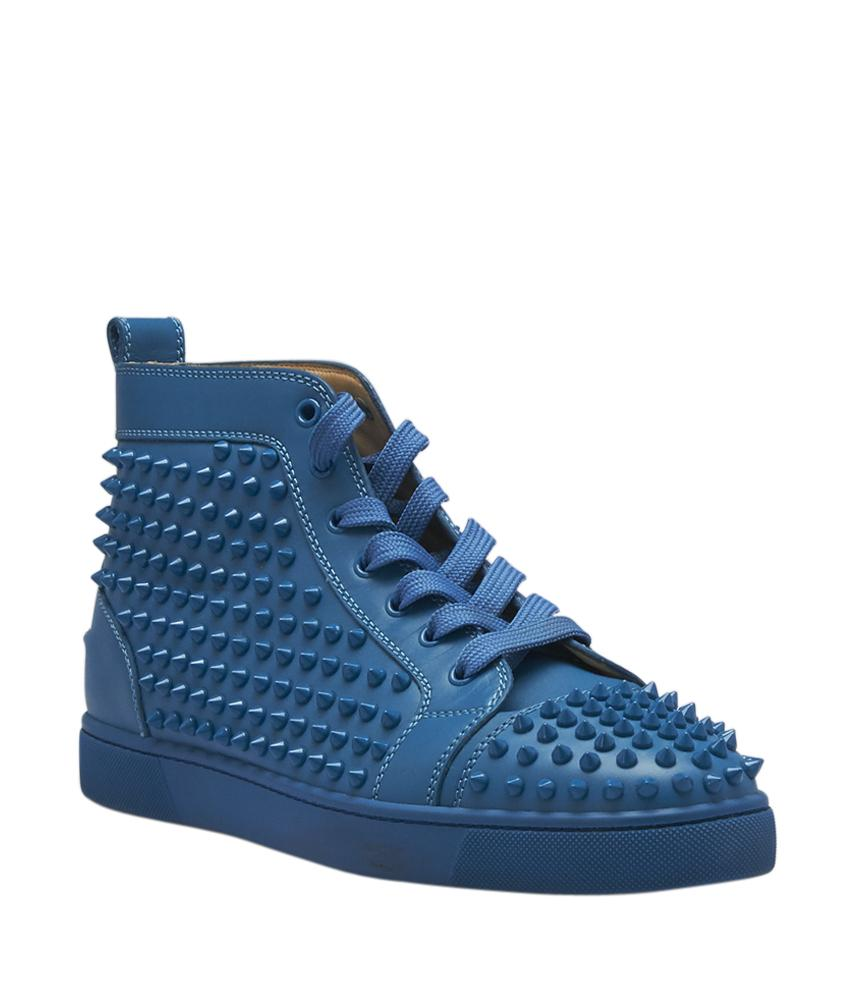Christian Louboutin Sneakers Leather Blue Boots. Christian Louboutin. Mens  Louis Sneakers Size ...