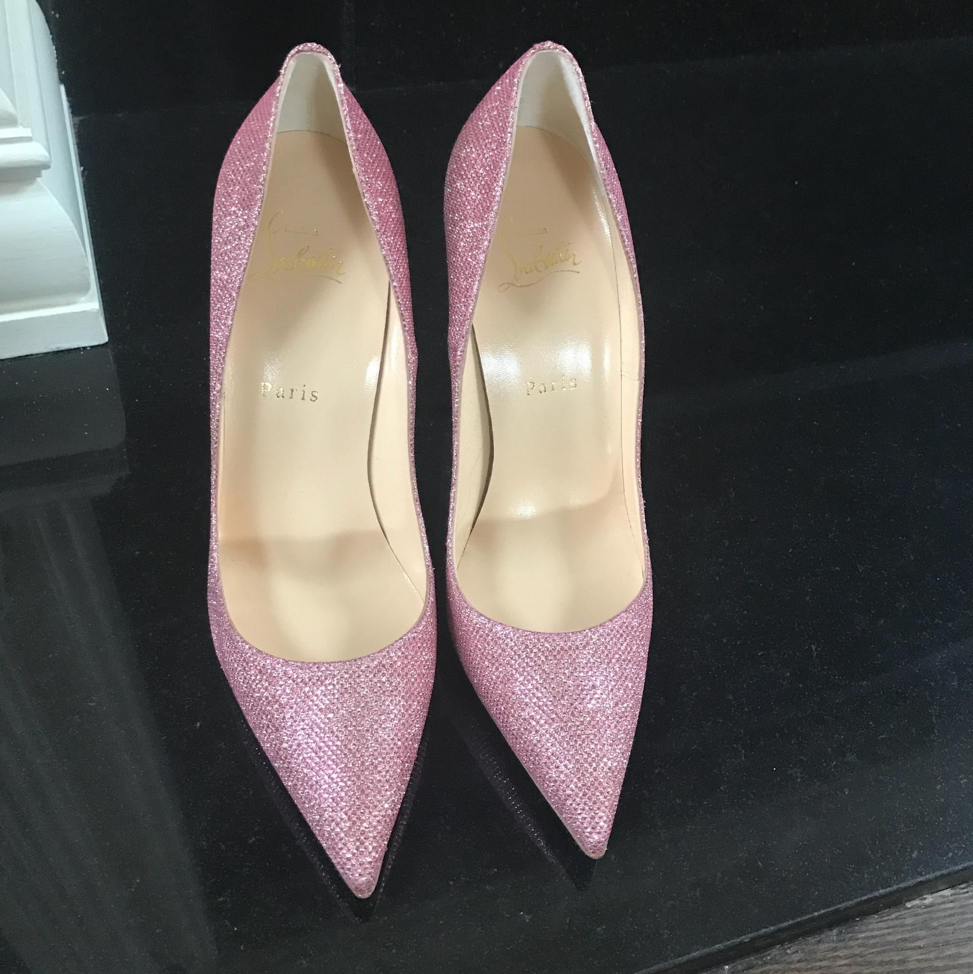 christian rose louboutin tisse si kate poudre rose christian à paillettes stiletto 3b769c