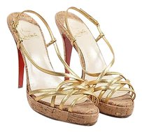 Christian Louboutin Tan Gold Sandals