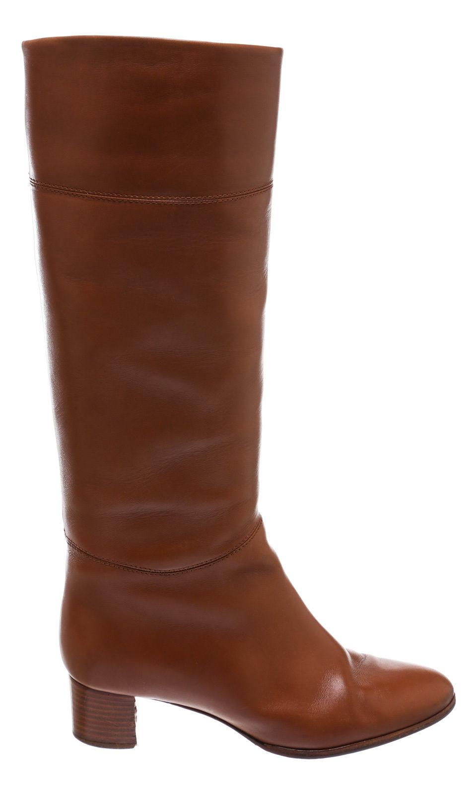 0ff0519dea3 ... Christian Louboutin Tan Leather Tall 39) 39) 39) 207514 Boots Booties  Size ...
