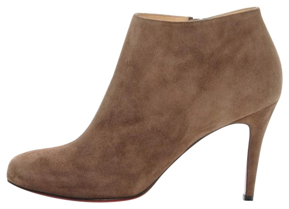 ed4d0096a570 Christian Louboutin Tan Chatain New Belle 85 85 85 Ankle Boots Booties Size  EU