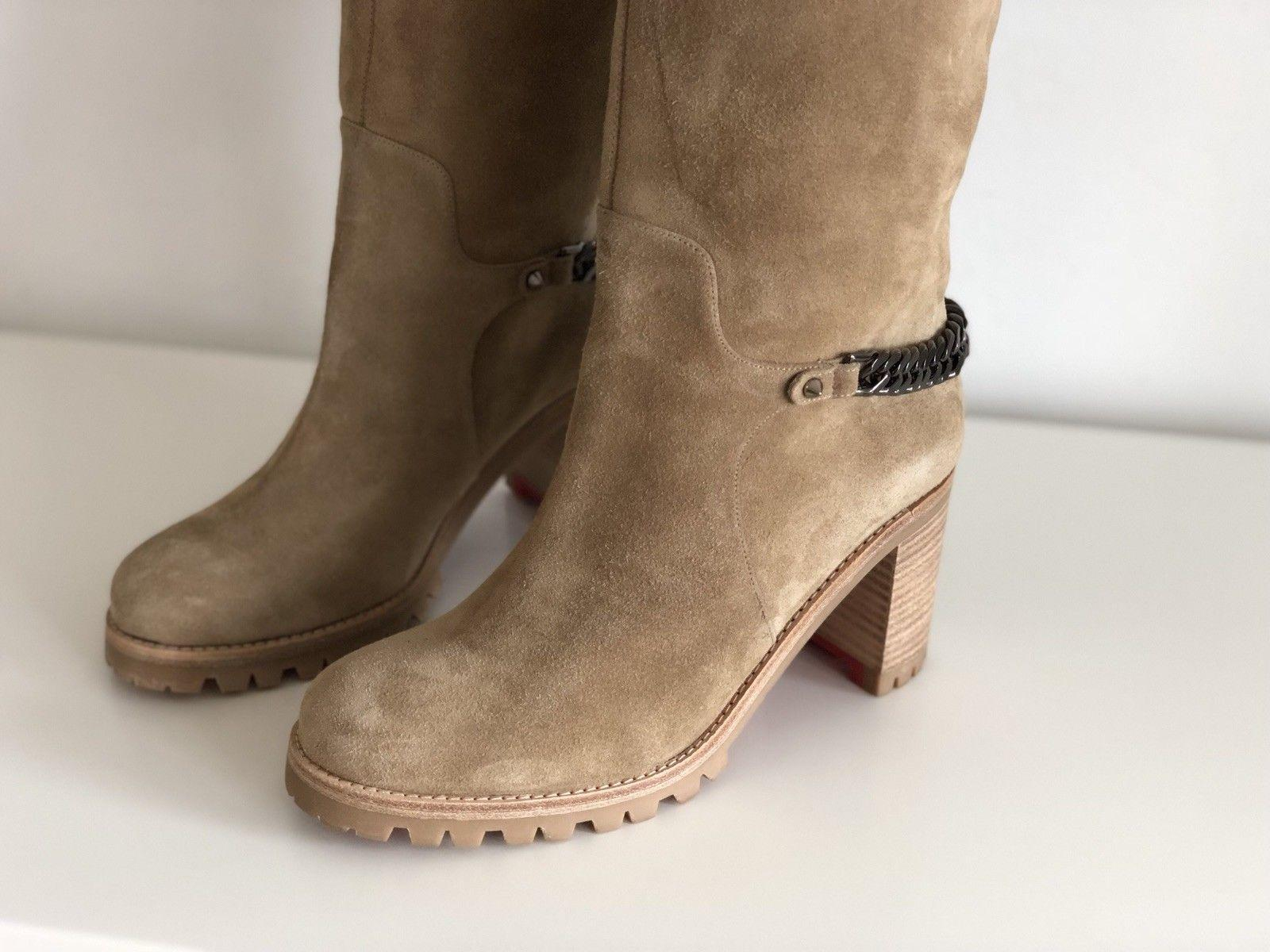 differently ec36c f8bbb Christian Louboutin Louboutin Louboutin Taupe Suede Cate ...