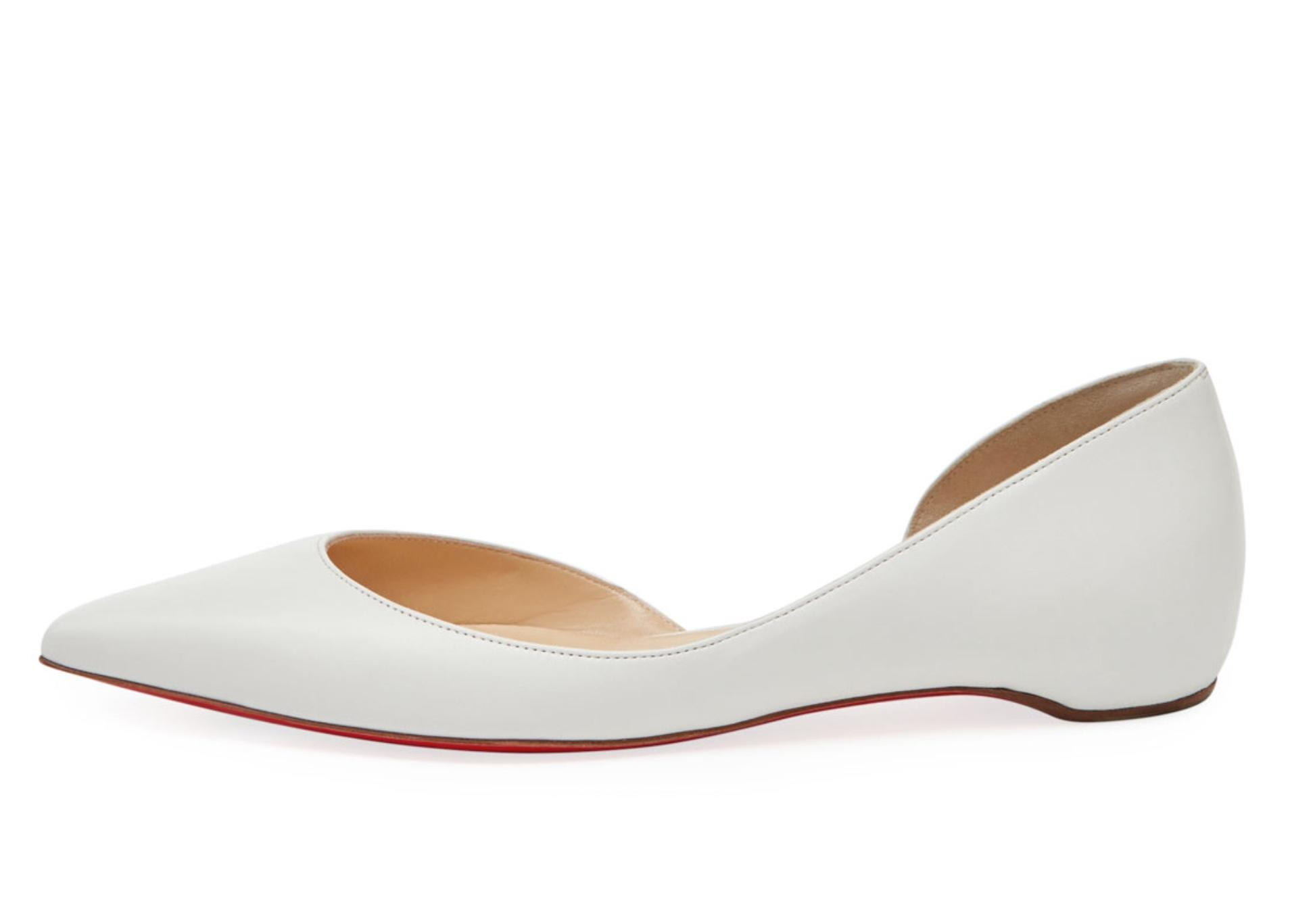 wholesale dealer a4bbb a8605 Christian Louboutin White Iriza Half-d'orsay Red Sole ...