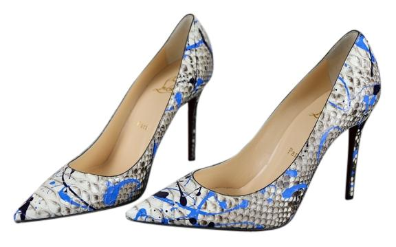 "Christian Louboutin * So Kate Pointed Toe Python ""vulcano"" 100 ..."