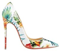 Christian Louboutin White/Multi Pumps