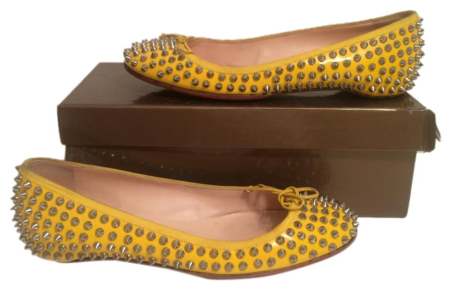 Christian Louboutin Yellow Spiked Eu 41 Flats Size US 10.5
