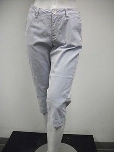 Christopher Blue White Capri/Cropped Pants Multi-Color