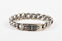 Chrome Hearts Chrome Hearts Sterling Silver Curb Chain Id Bracelet