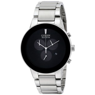 Citizen Citizen Axiom Eco-drive Chronograph Black Dial Stainless Steel Mens Watch