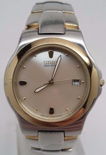 Citizen Citizen Bf0154-98a Mens Two Tone Gold Dial Watch Broken Sold As Is