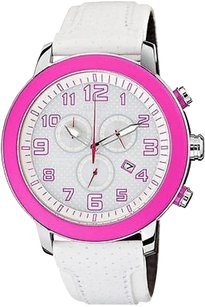 Citizen Citizen Drive Brt Chronograph White Leather Ladies Watch At2230-03a
