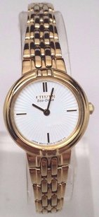 Citizen Citizen Eco-drive Ladies Silhouette Gold Tone Bracelet Watch Ex1092-57a