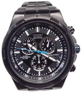 Citizen Citizen Eco-drive Mens Perpetual Calendar Black Stainless Steel Watch Bl5435-58e