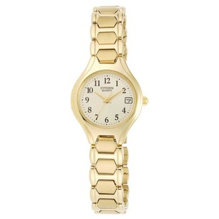Citizen Citizen Ladies Dress Gold Tone Stainless Watch Eu2252-56p Light Scratches