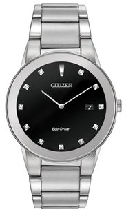 Citizen Citizen Men's 40mm Silver Steel Bracelet & Case Mineral Glass Watch AU1060-51G