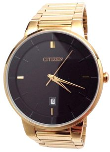 Citizen Citizen Mens Dress Gold Tone Stainless Steel Bracelet Watch Bi5012-53e