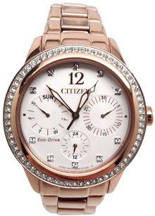 Citizen Citizen Eco-drive Silhouette Crystals Multifunction Womens Watch Fd2013-50a Sd