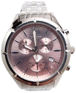 Citizen Citizen Fa0020-54x Womens Stainless Steel Pink Dial Chronograph Watch