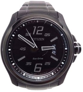 Citizen Citizen Eco Drive Aw1354-82e Black Dial Black Ion Plated Steel Mens Watch
