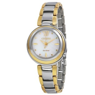 Citizen Eco Drive Sunrise Mother of Pearl Dial Two-tone Ladies Watch