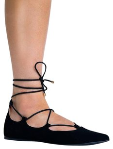 City Classified Ankle-strap Black Flats