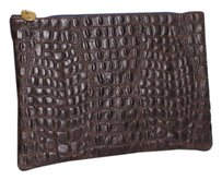 Clare V. Vivier V Flat Brown Clutch