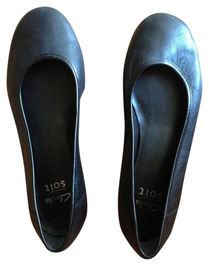 B Regular m Soft 9 Us Tradesy Size Cushion Clarks Black Flats S6FFg