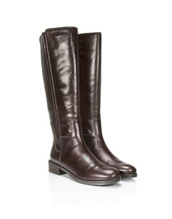 Clarks Leather Riding Tall Zipper Brown Boots