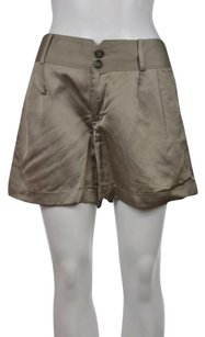 Club Monaco Womens Metallic Casual Viscose Cropped Trousers Shorts Gray