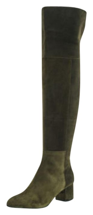 Club Monaco Green Olive Army Moss Andreea Over-the-knee Lowland Highland Boots/Booties Size US 8.5 Regular (M, B)