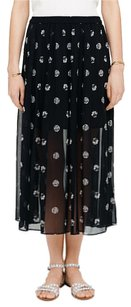 Club Monaco Maxi Skirt black and beige print