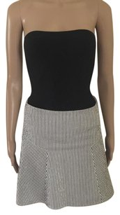 Club Monaco Skirt White / Black Stripe