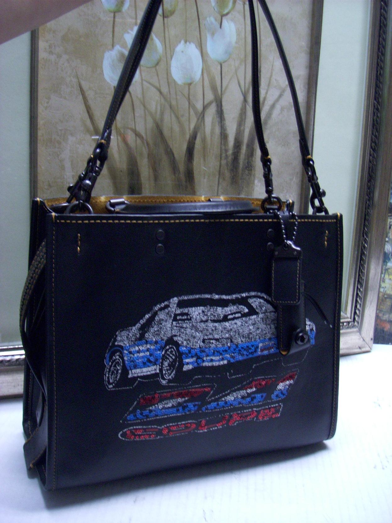 Car embellished leather Rogue Coach NOZpO
