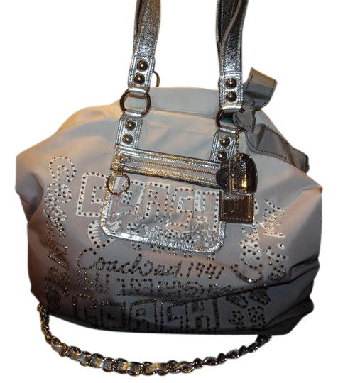 coach gray bag ezak  Coach 1941 Tote in Gray Ombre Silver Bling