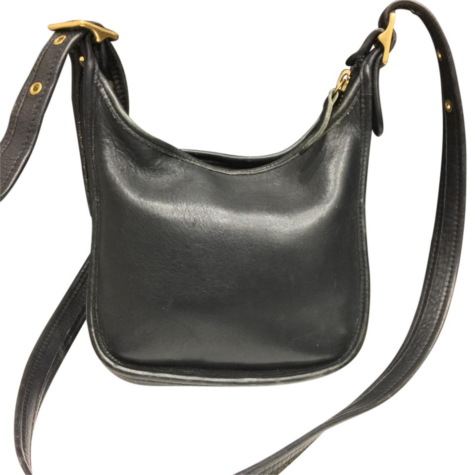 Coach 9950 Vintage Style Crossbody Handbag Black Hobo Bag ...