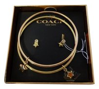 Coach Authentic COACH Boxed Gift set STAR Earrings Bangle Bracelets