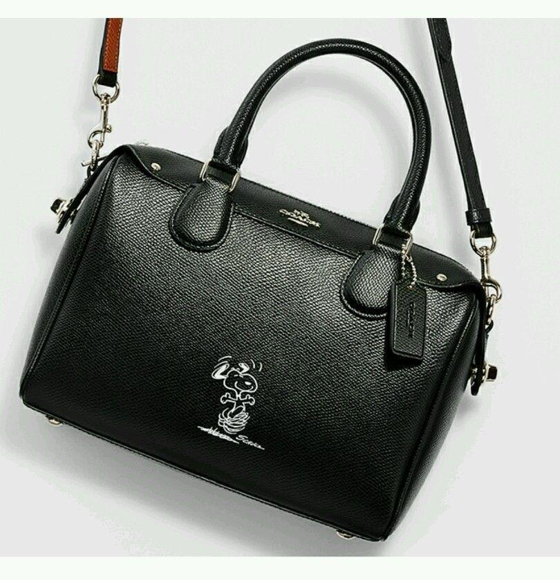 11e0eec5b discount code for coach snoopy limited edition bennett 36702 crossbody  strap shoulder satchel in black 30e83