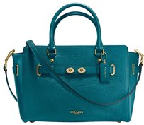 Coach Blake Bubble Leather Tote in ATLANTIC