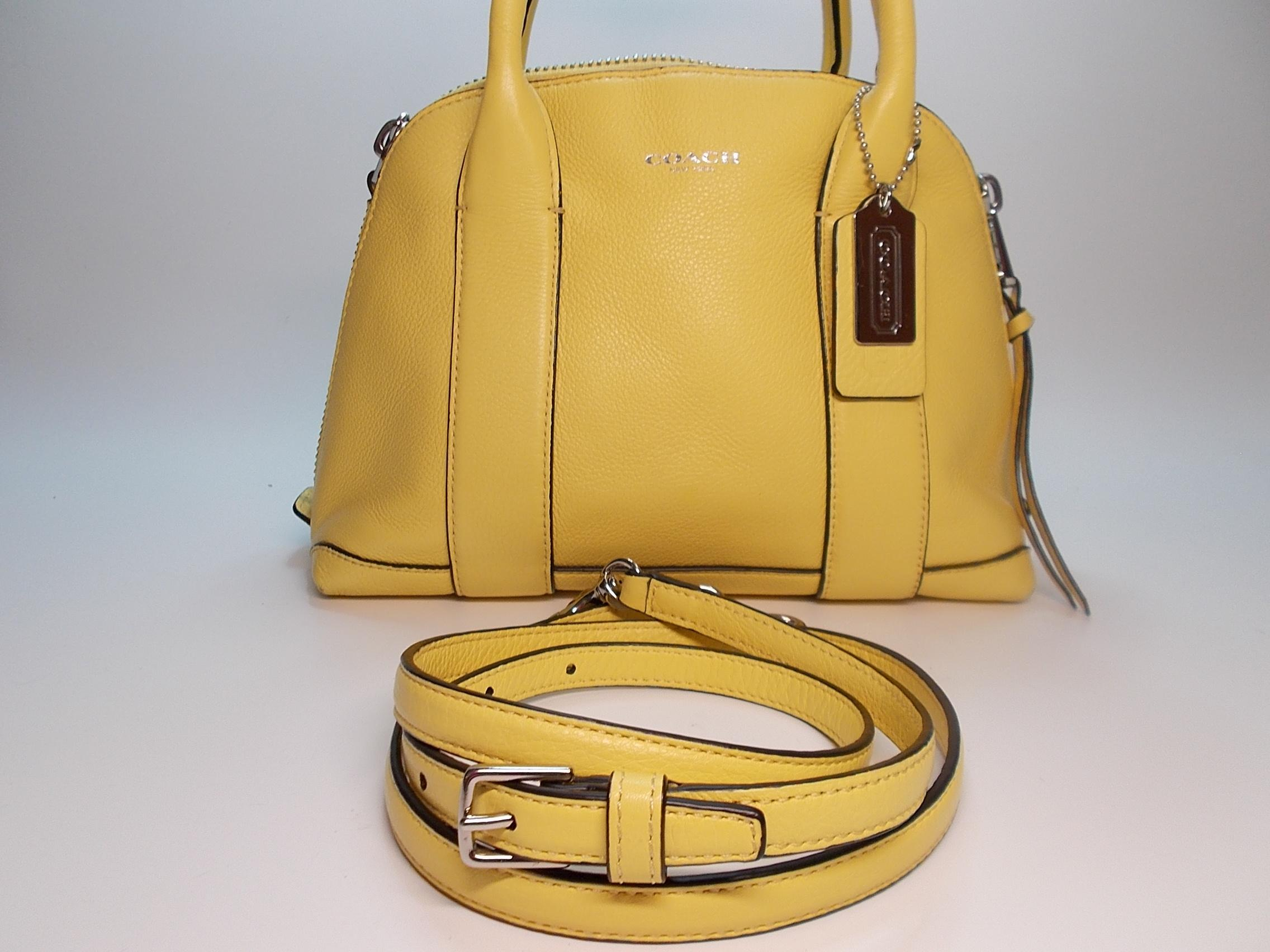 c1621995363d ... norway coach bleecker mini preston pale yellow leather cross body bag  tradesy 509f6 b3947 ...