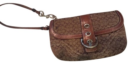 Preload https://item3.tradesy.com/images/coach-browntan-leather-and-fabric-wristlet-4194967-0-0.jpg?width=440&height=440