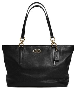 Coach Chicago Ellis Pebbled Leather Tote in Black