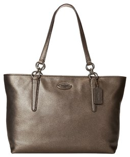 Coach Chicago Ellis Pebbled Leather Tote in Brass