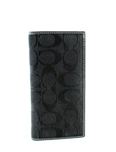 Coach Coach Checkbook Wallet Cover Signature Jacquard