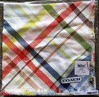 Coach Coach Heritage Stripe Tattersall 44 Square 100 Modal Scarf