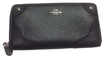 Coach Coach Leather Accordion Zip Mickie Wallet