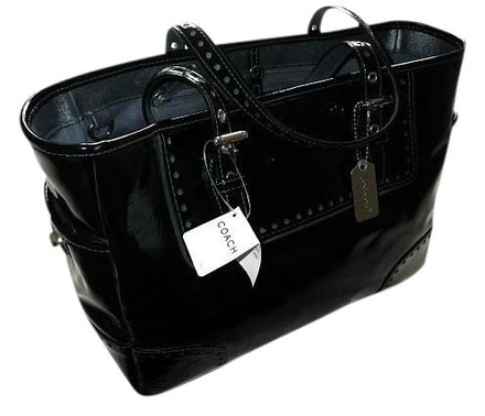 Preload https://item3.tradesy.com/images/coach-crinkled-blk-gallery-lunch-purse-handbag-black-patent-leather-tote-419227-0-0.jpg?width=440&height=440
