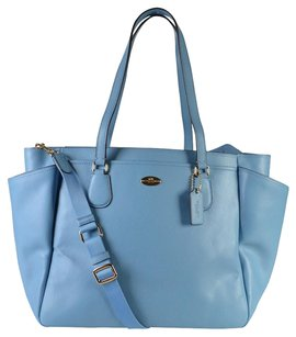 Coach Crossgrain Leather Tote in Blue Jay