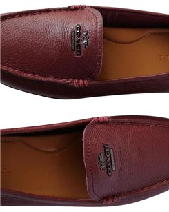 Coach Flat Leather Mary Lock Up Burgundy Flats